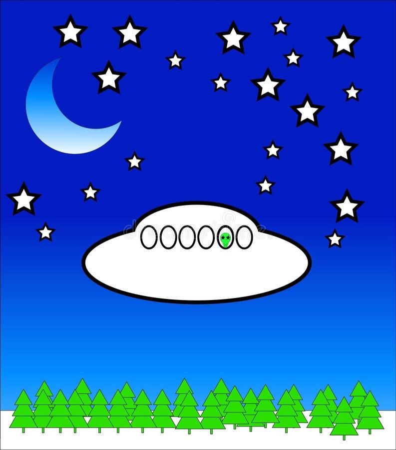 UFO 20 ilustração do vetor