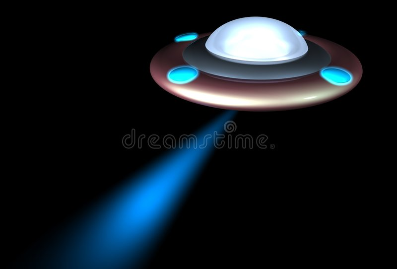 UFO illustration stock