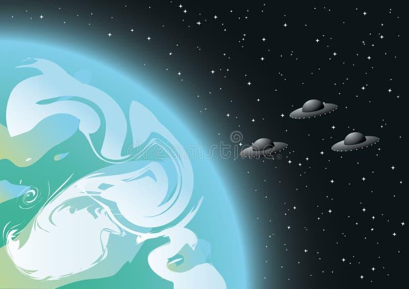 UFO illustration stock