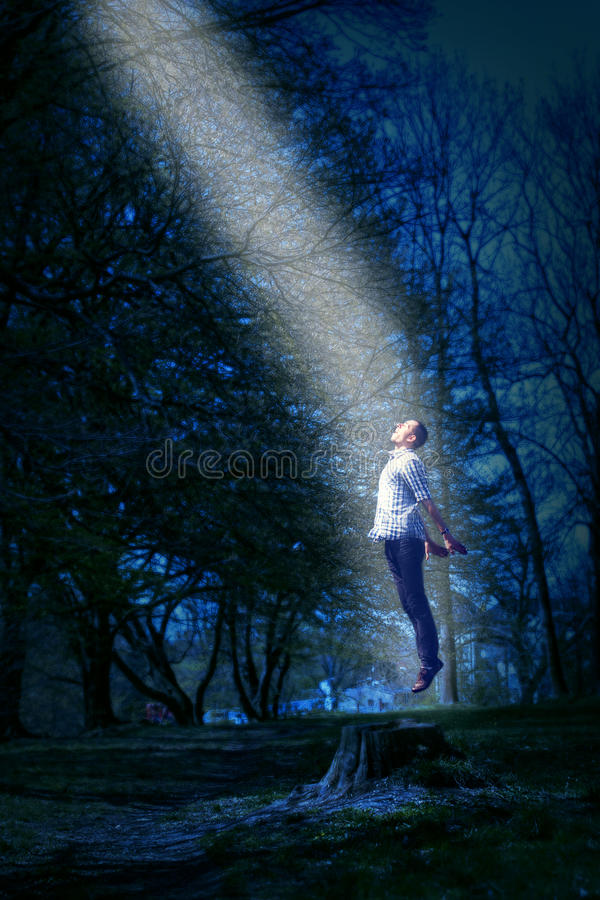 UFO abduction royalty free stock image