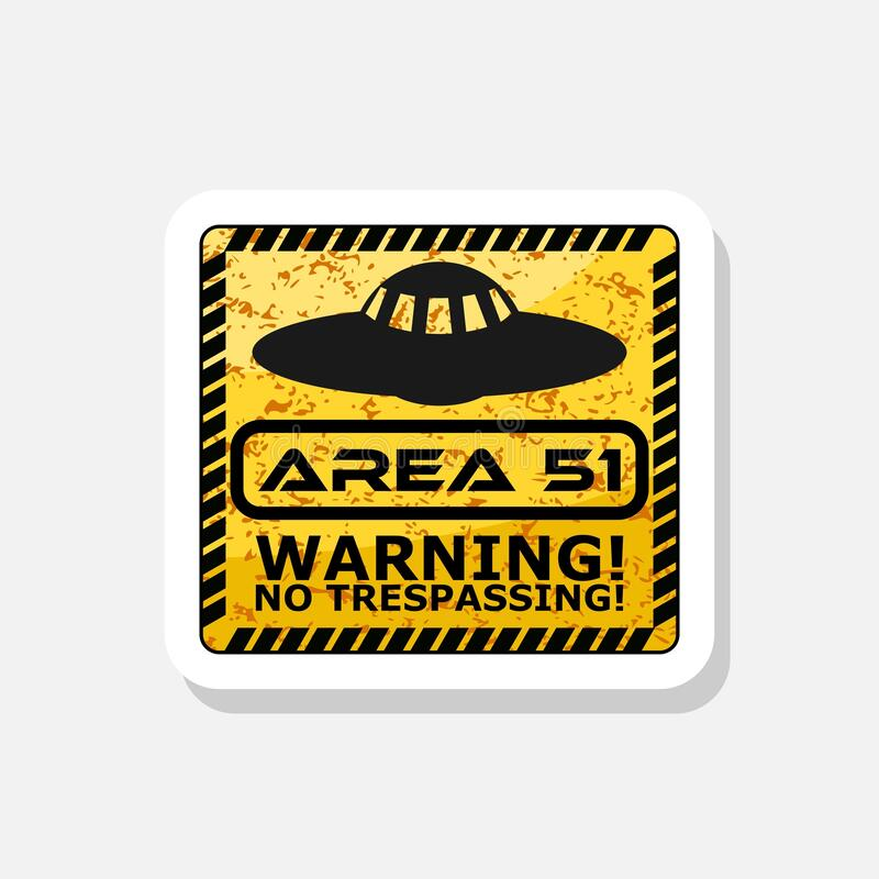 Free UFO, Aliens And Area 51 Danger Warning Road Sign Sticker Stock Image - 210078551