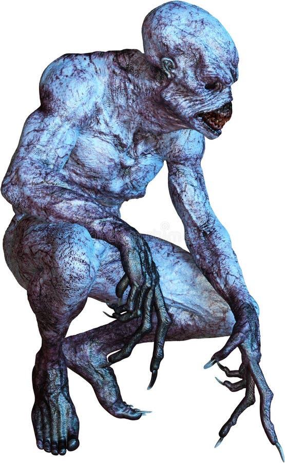 UFO Astronautycznego obcego potwór Odizolowywający, zło, niebezpieczeństwo ilustracji