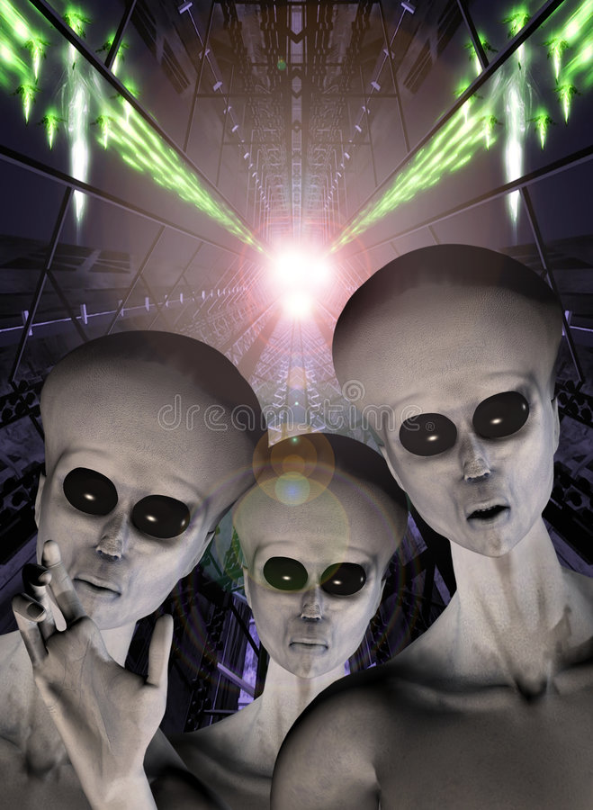 UFO-Ausländerabduktion stockfotos