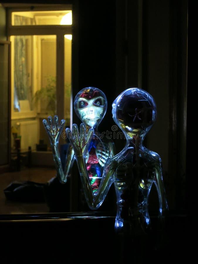 UFO benvenuto immagine stock