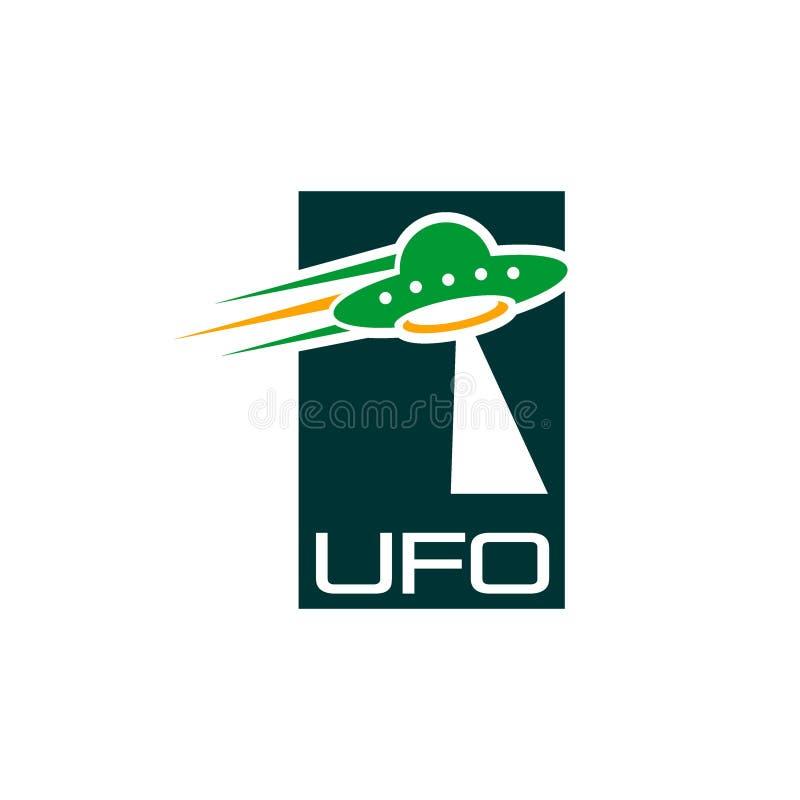 UFO creativo Logo Vector Art Logo stock de ilustración