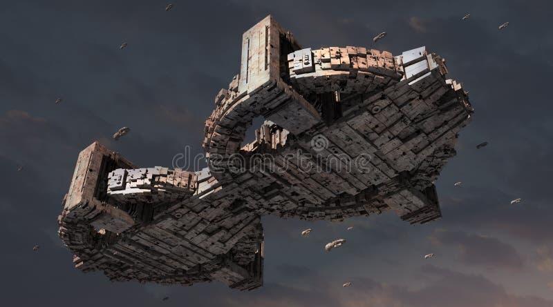 UFO 3d ilustração do vetor