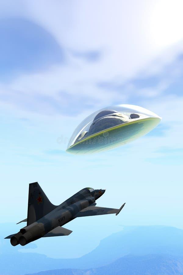 UFO d'interception illustration de vecteur