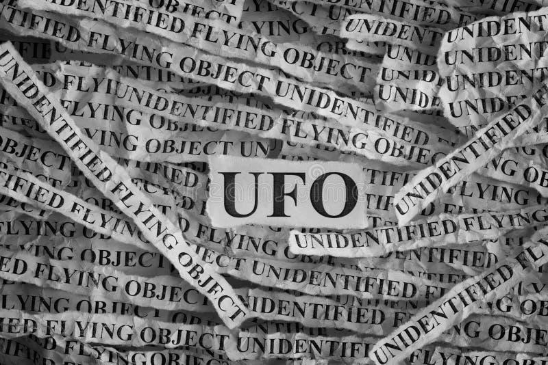 UFO d'objet de vol non identifié image libre de droits