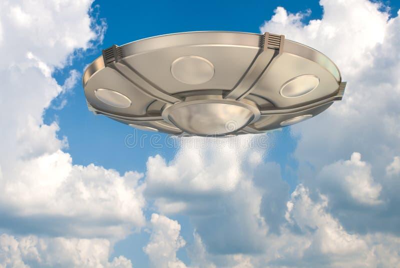 UFO dans le ciel illustration libre de droits