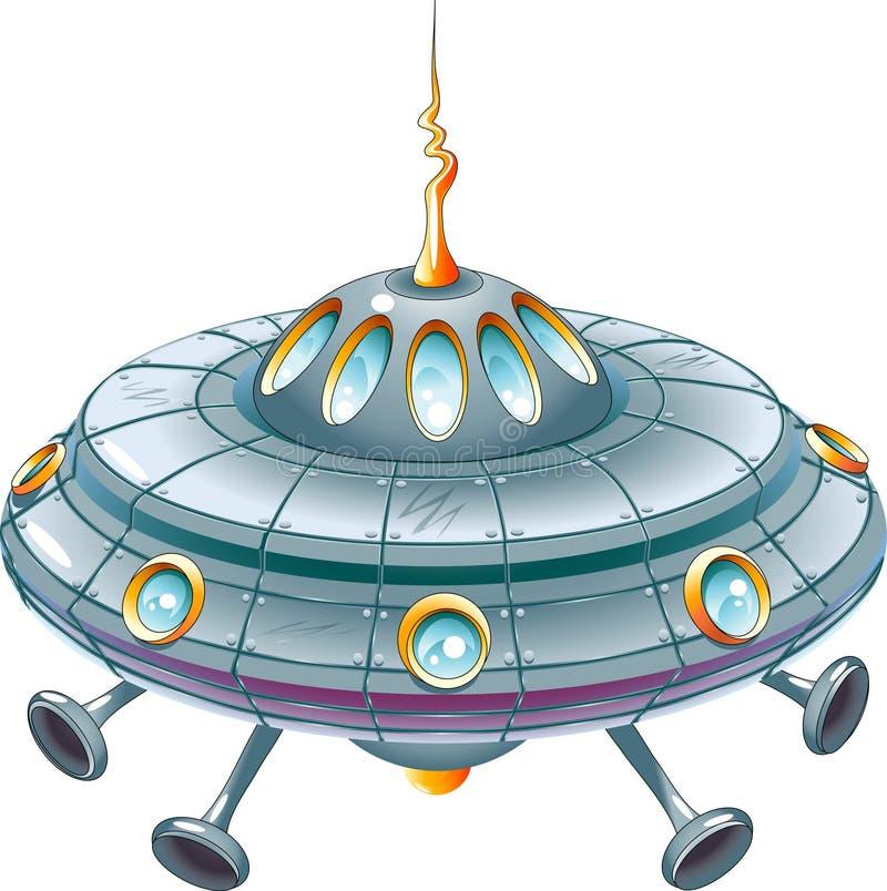 UFO de la historieta stock de ilustración