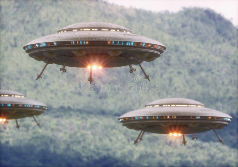 UFO de los objetos de vuelo no identificados fotos de archivo libres de regalías
