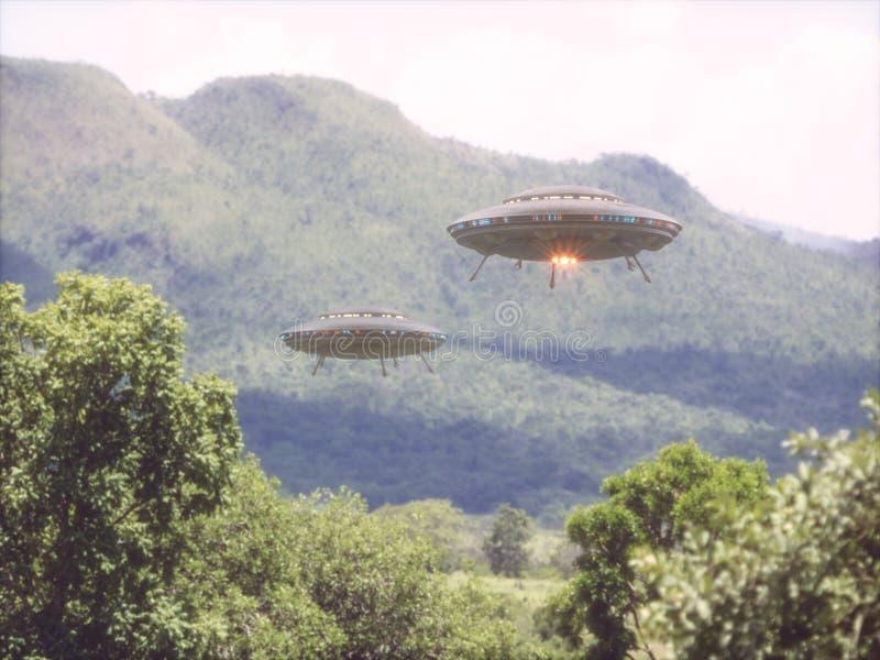 UFO de los objetos de vuelo no identificados fotografía de archivo