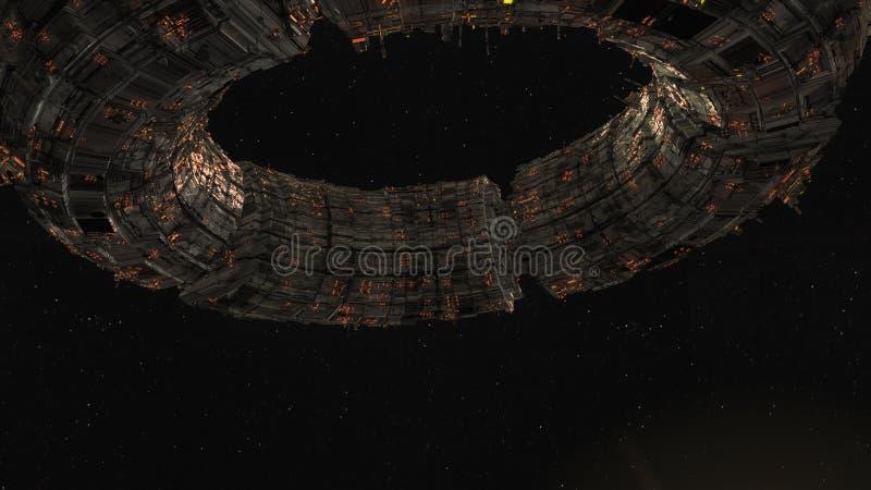 UFO de vaisseau spatial illustration stock