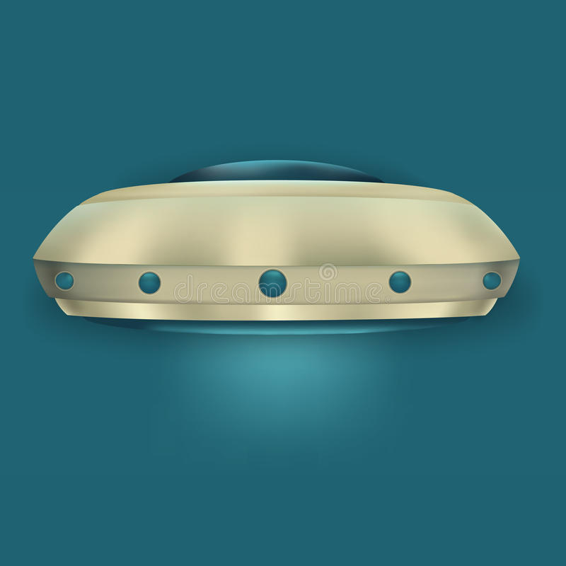 UFO dell'oggetto di volo immagine stock