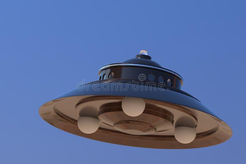 UFO door George Adamski wordt gezien dat royalty-vrije stock afbeeldingen