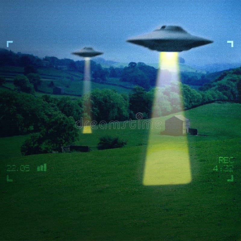 UFO in einer Wiese lizenzfreie stockfotos