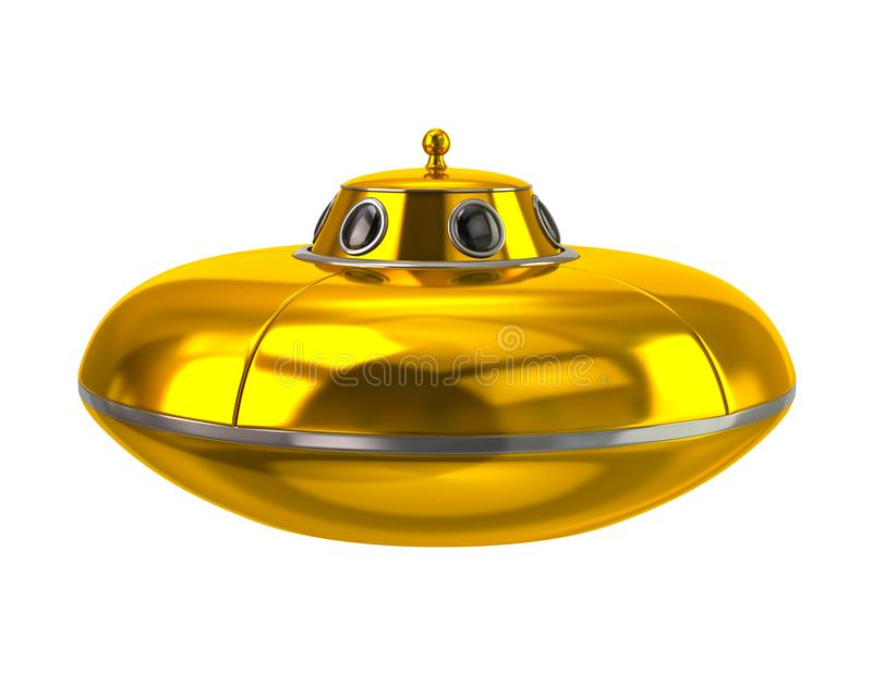 UFO - ejemplo extranjero de oro de la nave espacial 3d libre illustration