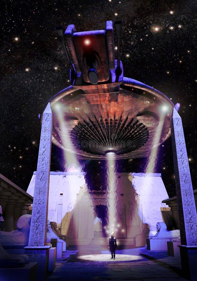 UFO en Egypte illustration de vecteur