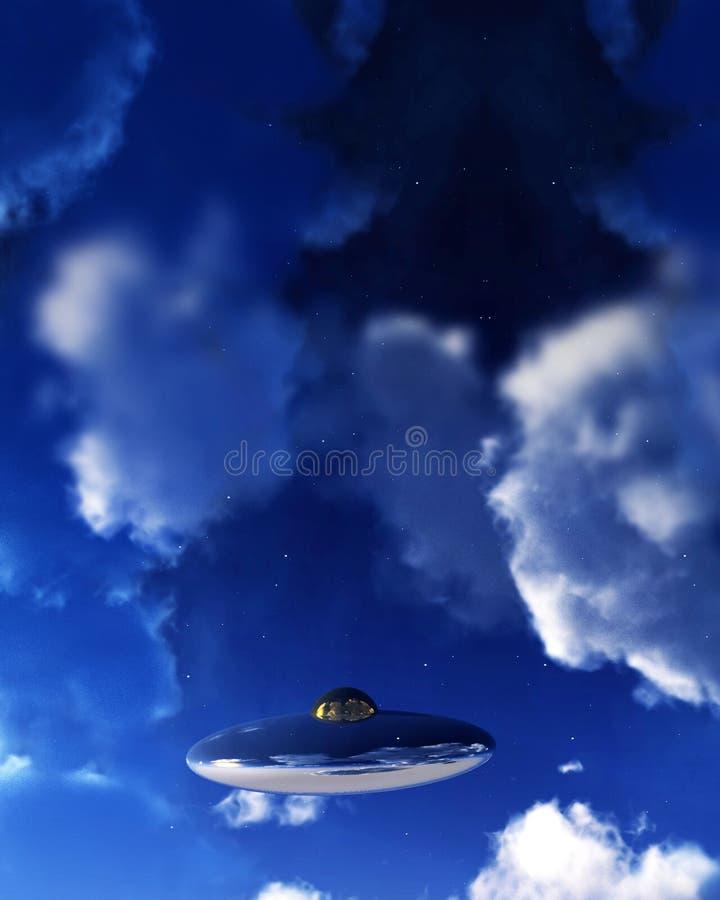 UFO en el cielo 3 imagen de archivo