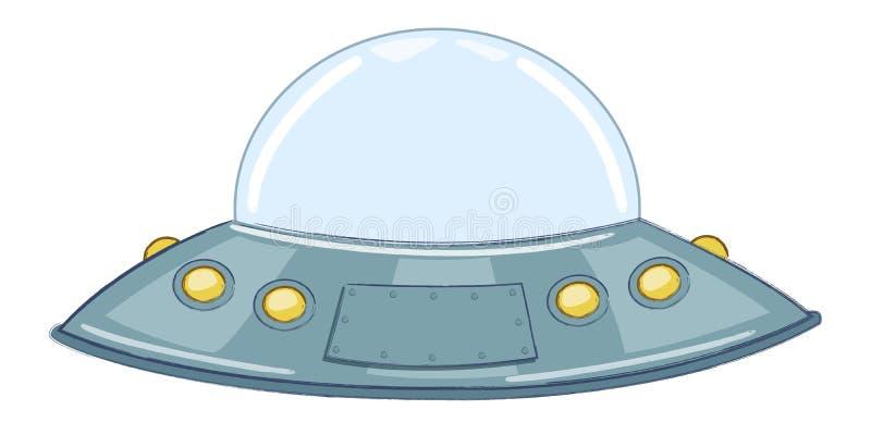 ufo fliegende untertasse vektor abbildung illustration