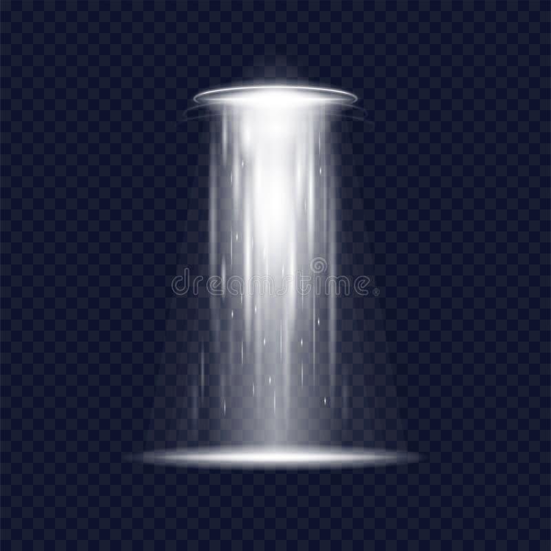 Ufo-främlingrymdskepp stock illustrationer