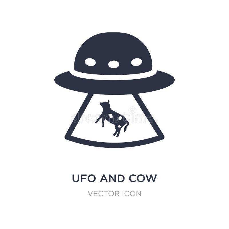 ufo i krowy ikona na białym tle Prosta element ilustracja od astronomii pojęcia ilustracji