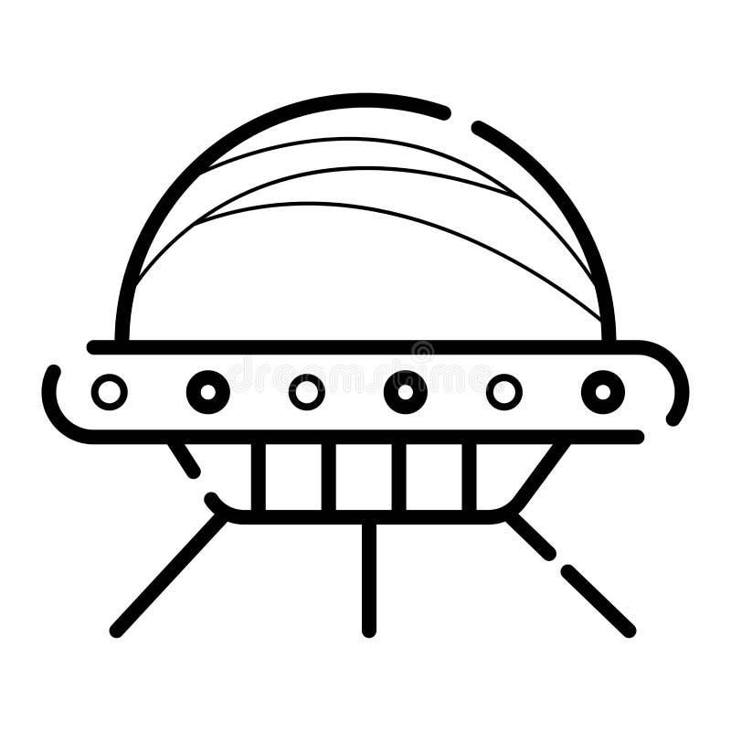 UFO ikona royalty ilustracja