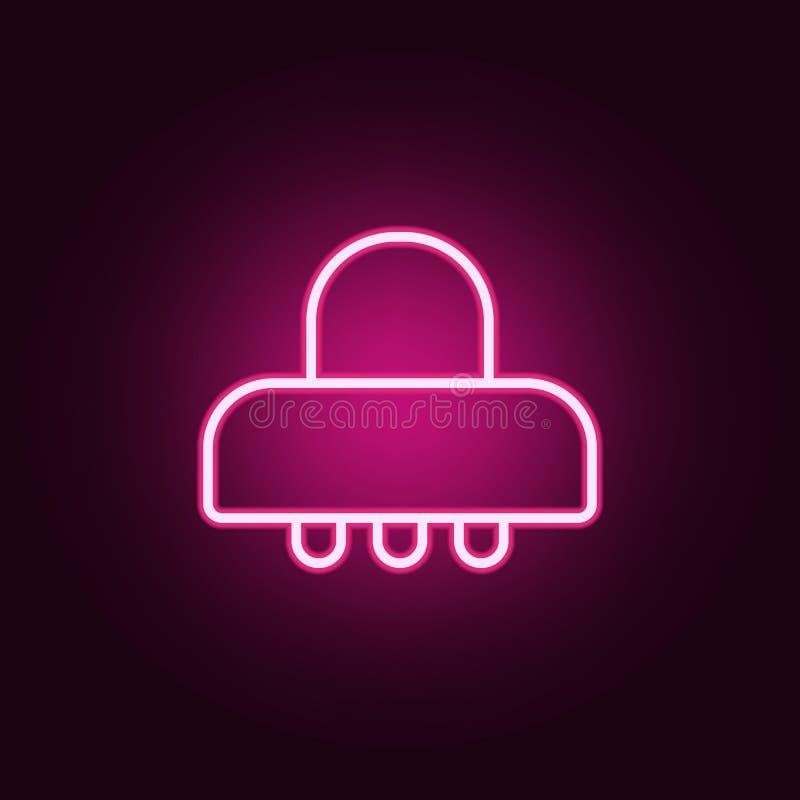 UFO ikona Elementy sieć w neonowych stylowych ikonach Prosta ikona dla stron internetowych, sieć projekt, mobilny app, ewidencyjn ilustracja wektor