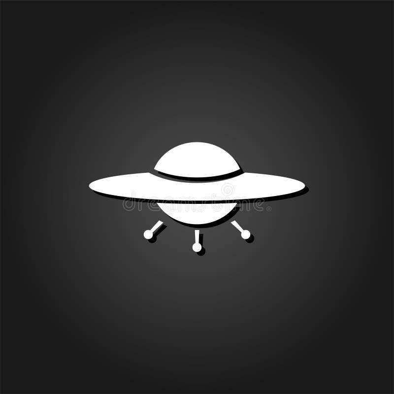 UFO-Ikonenebene stock abbildung