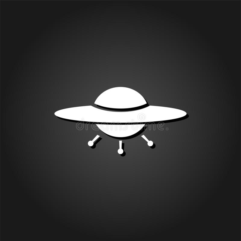 UFO ikony mieszkanie ilustracji