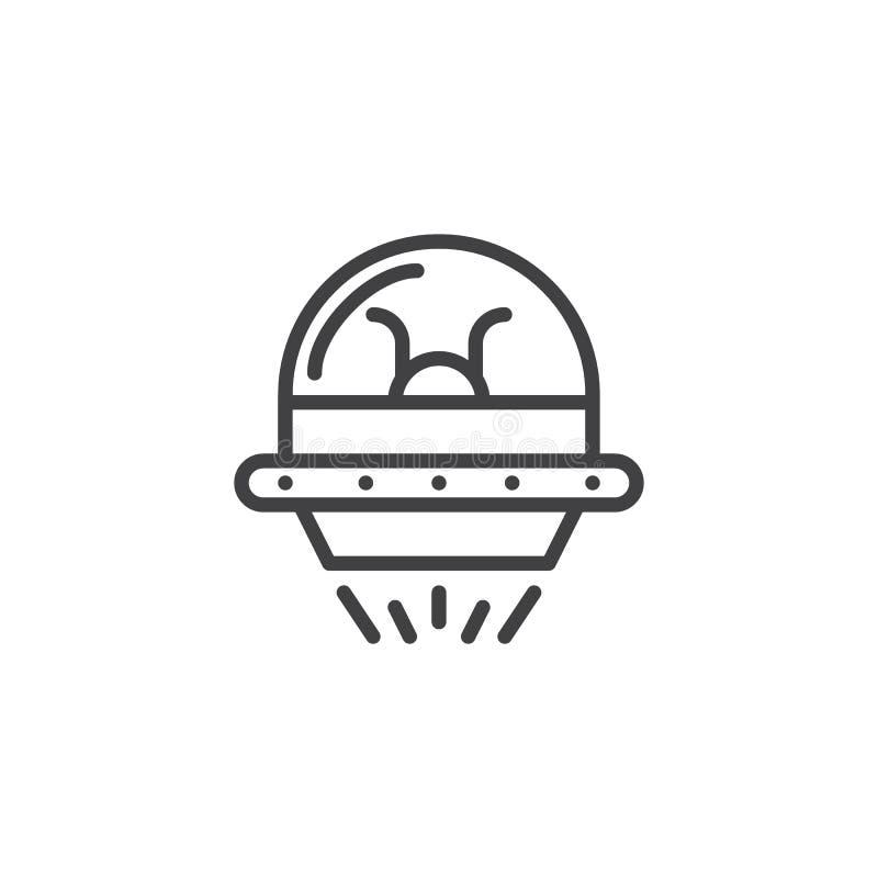 Ufo konturu ikona royalty ilustracja