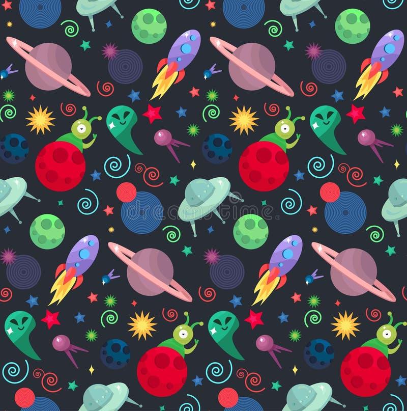 UFO-Kosmosmuster vektor abbildung