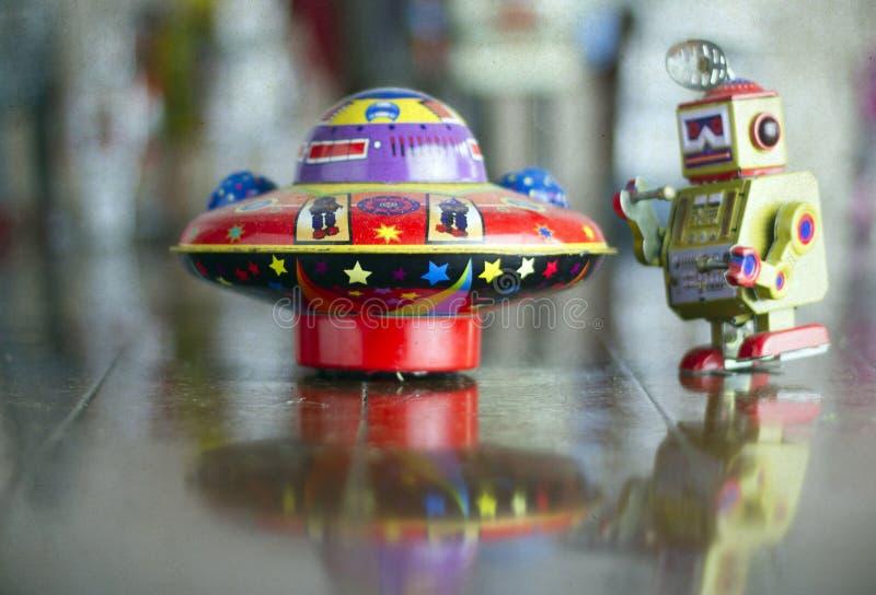 Ufo-leksak arkivfoton