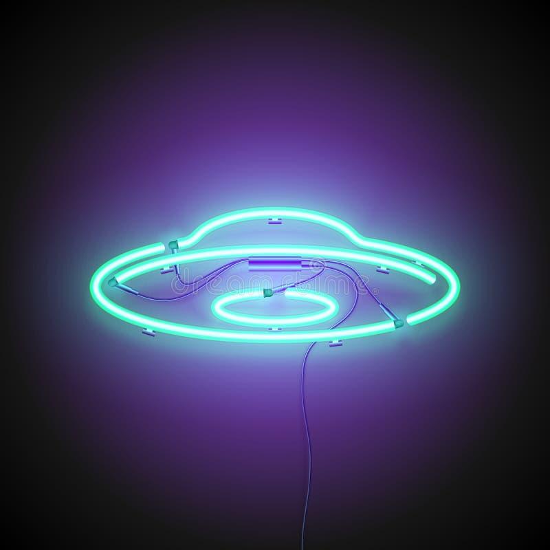 UFO-Leuchtreklame stock abbildung