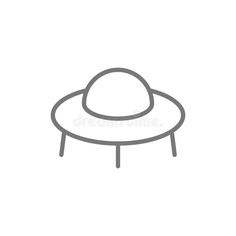 UFO, linha ?cone da nave espacial ilustração royalty free