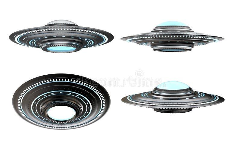 Ufo lub obcy statek kosmiczny ilustracja wektor
