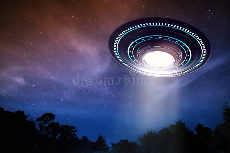 Ufo lub obcy statek kosmiczny royalty ilustracja