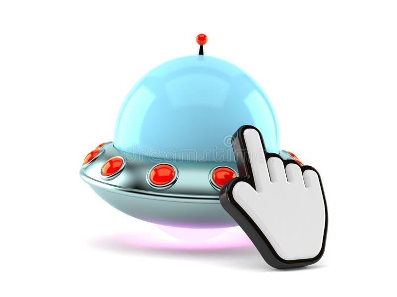 UFO mit Netz-Cursor vektor abbildung