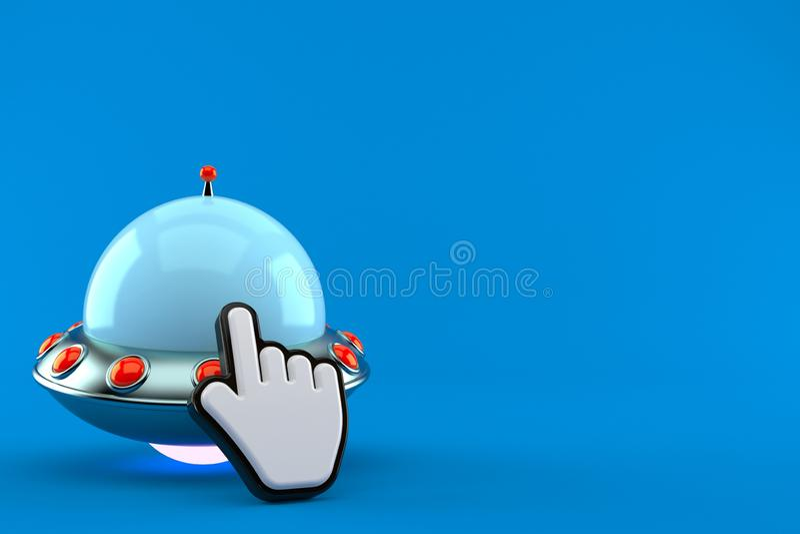 UFO mit Netz-Cursor stock abbildung