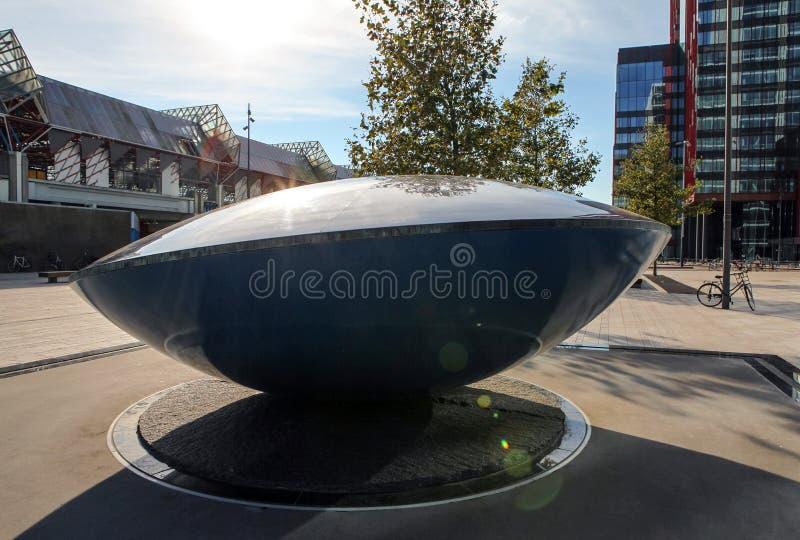 UFO monument. Almere - Holland. ALMERE - NETHERLANDS - AUGUST 25, 2015: UFO monument. Almere - Holland royalty free stock image