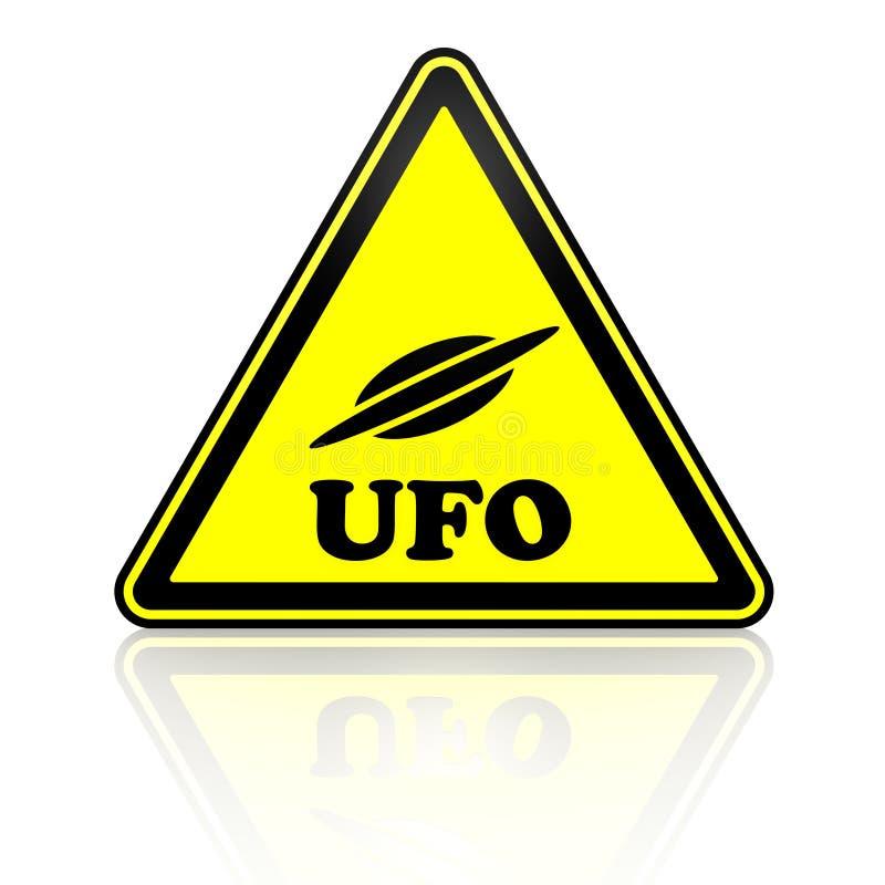 Ufo niezidentyfikowany latający przedmiot więcej mojego portfolio znak podpisuje ostrzeżenie royalty ilustracja