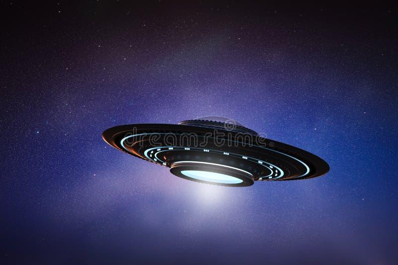 UFO no espaço ilustração royalty free