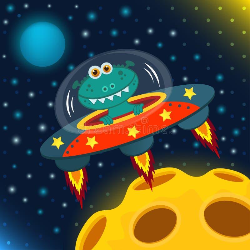 UFO obcy ilustracji