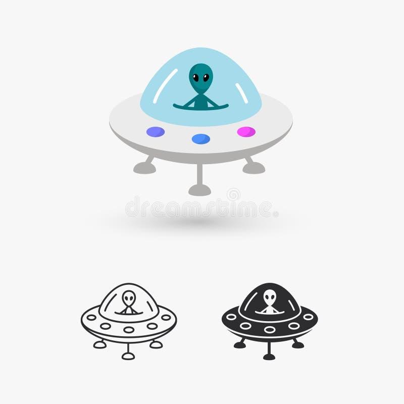 UFO obcy royalty ilustracja