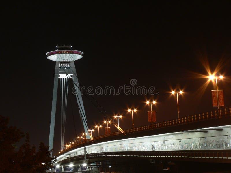 UFO op de brug stock afbeeldingen