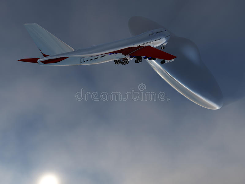 Download UFO And Plane stock illustration. Image of hovering, holiday - 11577270