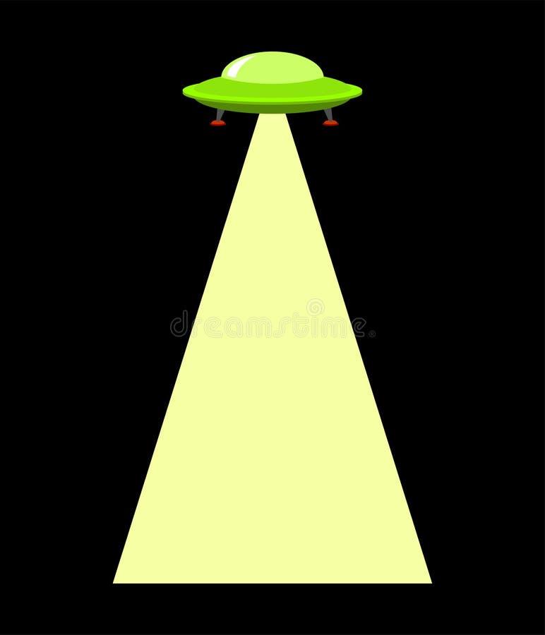 UFO promień odizolowywający Obcy uprowadzają szablon również zwrócić corel ilustracji wektora ilustracji