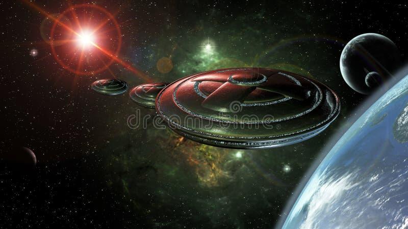 Download UFO przestrzeń ilustracji. Ilustracja złożonej z galaxy - 53779100