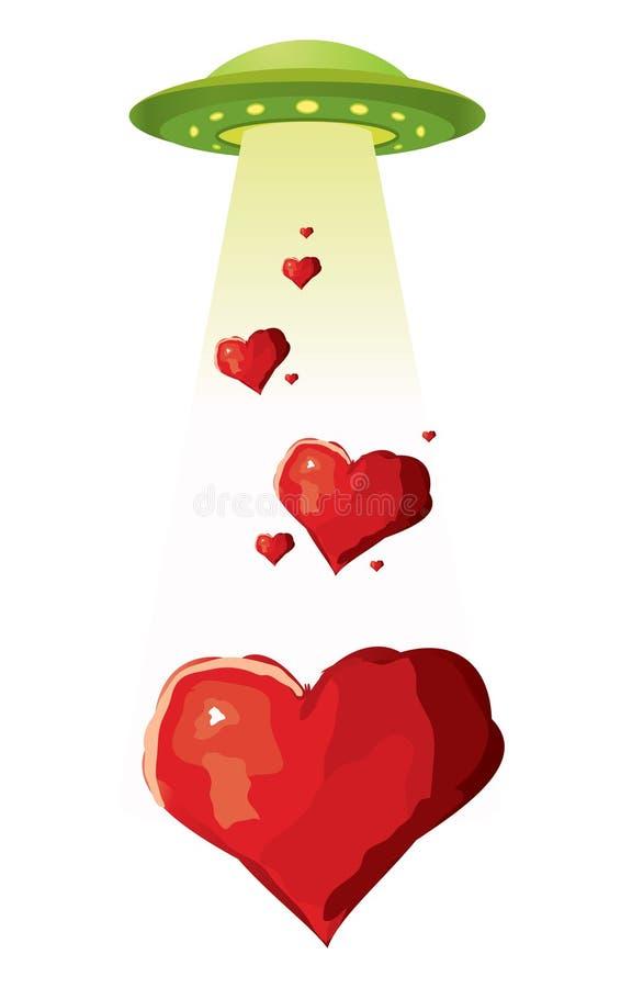 UFO sending love royalty free illustration