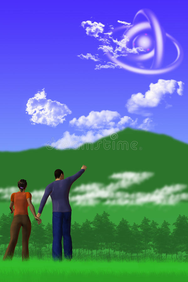 ufo sightings иллюстрация штока